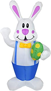 Marooma Large Inflatable Easter Bunny, 5.9 Ft Inflatable Easter Rabbit Holding Easter Egg, Outdoor Indoor Easter Holiday D...