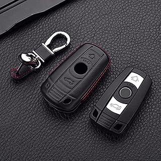 $24 » 4D Genuine Leather Key Cover Case Pocket for BMW 1 3 5 6 7 Series X1 X5 X6 E90 E92 E93 Smart Car Remote Controller Key Hol...