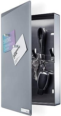 Blomus - VELIO - Armoire à clés / tableau magnétique en verre gris - 65372