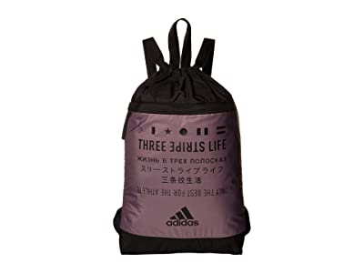 adidas Amplifier Blocked Sackpack (Legacy Purple/Black) Bags