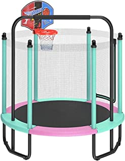 Children's with Pull Up Bar and Basketball Hoop, Indoor and Outdoor Sports Fitness Game Fence Toys, Safe and Silent (Color...