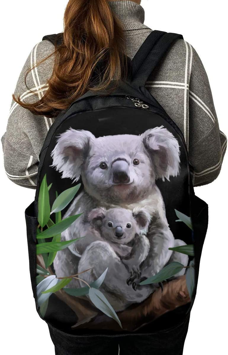 Cute Animal Koala Unique Outdoor Shoulders Bag Fabric Backpack Multipurpose Daypacks for Adult