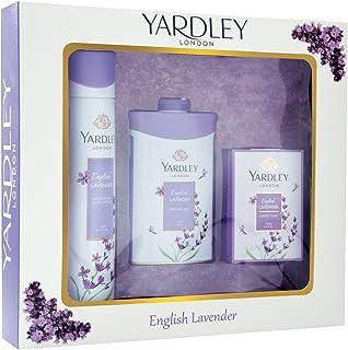 Yardley London English Lavender Luxury Gift Set (Deo 150ml, Talc 100g, Soap 100g)