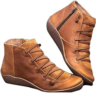 Nurrat Women Fashion Artificial Leather Rubber Sole Ankle Height Boots Ankle & Bootie