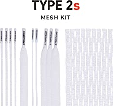 String King Type 2s Semi-Soft Lacrosse Mesh Kit with Mesh and Strings (Assorted Colors)