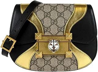 Women's Beige/Ebony GG Supreme Canvas Mini Crossbody Bag 500781 8754