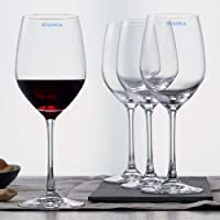 SYANKA Glass Wine Glass - Set Of 4, Clear, 360ml