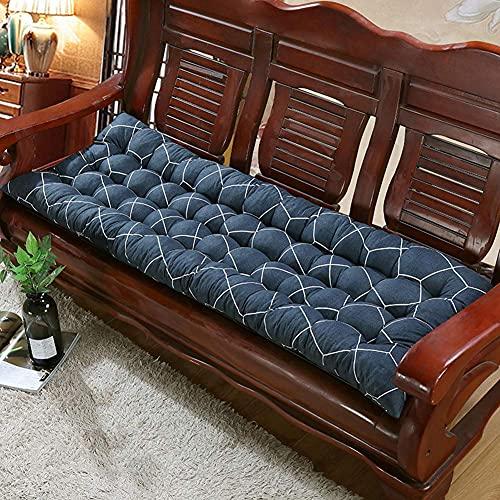 Cojín de banco de jardín suave y multicolor, resistente alfombrilla antideslizante para silla de 2 a 3 plazas, suave y cómoda para patio, muebles y banco de comedor