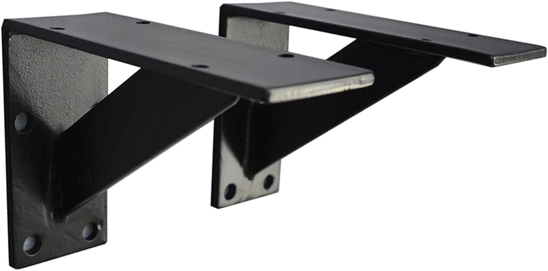 Shelf bracket Chicago Mall LWMQ 2 Now free shipping L-Sha Wall-Mounted Heavy-Duty Pieces-Black