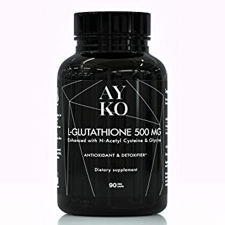 AYKO Reduced Glutathione 500 mg - L-Glutathione Skin Whitening Pills with NAC and Glycine - Antioxidant and Anti Aging Eff...