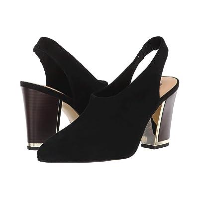 Bella-Vita Gabriella (Black Kid Suede Leather) High Heels
