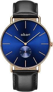 abart FR41-013 Wrist Watch for Men Croco Alexander Calf Strap Rose Gold Case Mens Watch Timepiece