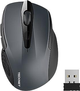 TECKNET Ratón Inalámbrico 2.4G Mouse Inalámbrico Óptico 5 Niveles 2600 dpi,6 Botones, 24 Meses Duración de Batería con Nan...