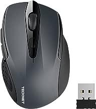 TECKNET Ratón Inalámbrico Portatil, 2.4G Mouse Inalámbrico Óptico 5 Niveles 2600 dpi,6 Botones, 24 Meses Duración de Batería con Nano Receptor para Laptop,PC,Ordenador,Chromebook,Notebook