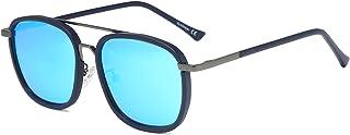 VANLINKER Polarized Square Aviator Sunglasses For Men, Retro Mirrored UV400 Lens Shades VL9513 REVIVAL