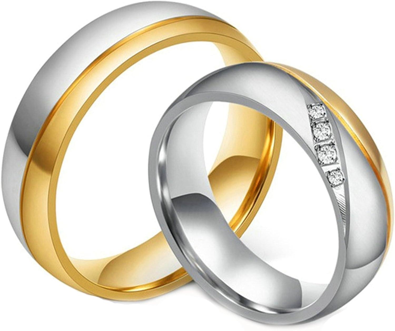 Daesar Fees free Stainless Steel Ring Columbus Mall for Women Wedding Men 6MM