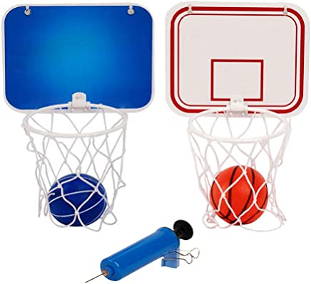 Majome Children Kids Mini Basketball Hoop Toys Suck Wall-Mounted Stand with Pump Sport Toy Set