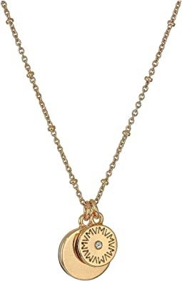 The Royals Mini VM Diamond Logo & Pendant Necklace