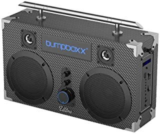 Bumpboxx Bluetooth Boombox Ultra Carbon Fiber | Retro Boombox with Bluetooth Speaker | Rechargeable Bluetooth Speaker