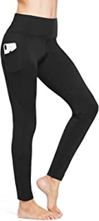 Women's Fleece Lined Leggings Winter Yoga Leggings Thermal High Waisted Pants with Pockets