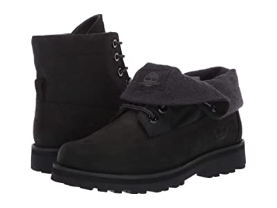 Timberland Kids Courma Roll Top Boot (Big Kid) (Black Nubuck) Kids Shoes