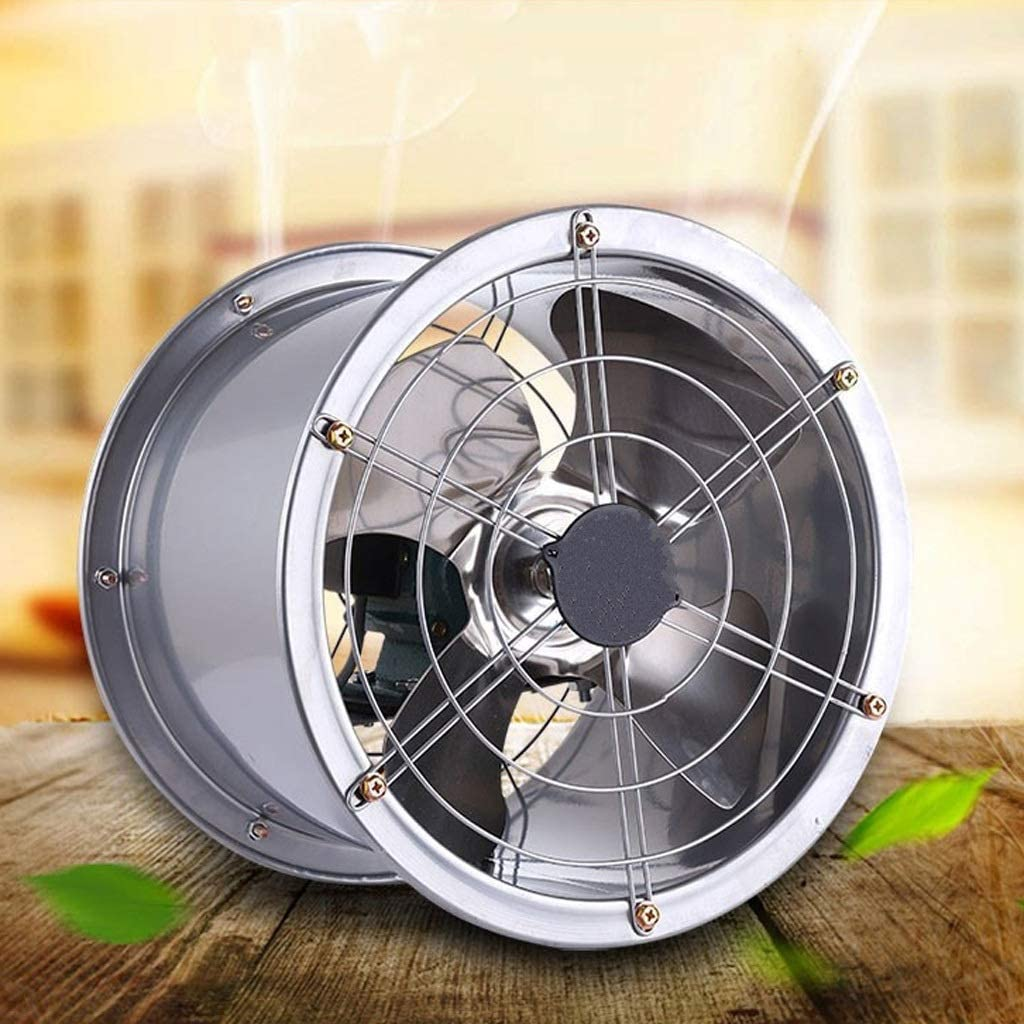Ventilador de ventilación doméstico Acero Inoxidable De 12 Pulgadas De Alta Velocidad del Cilindro Extractor Extractor De Cocina Extintor Extintor Silencio Industrial Ventilador 350mm LITING
