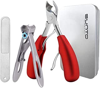 Thick Toenail Clippers, Large Nail Clippers for Podiatrist/Ingrown/Thick/Professional/Men/Seniors Toenail and Nail Surgical Grade Stainless Steel Toenail Trimmer Nipper