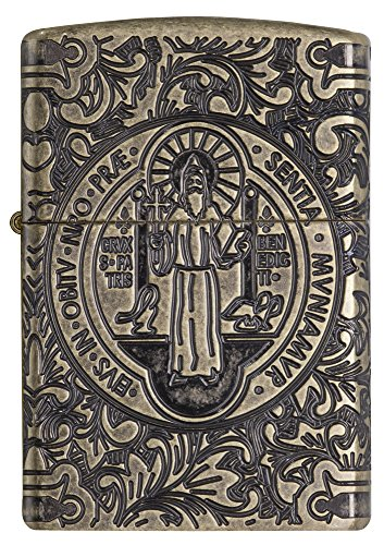 Zippo ST. Benedict Accendino a Benzina, Ottone, 6 x 6 x 8 cm