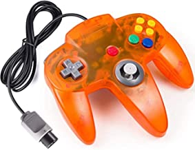 Classic N64 Controller Fire Orange Retro Wired Game Pad Console Joystick for N64 Video Console 64 System