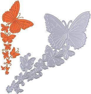 VINFUTUR Papillons Matrices de Découpe Scrapbooking Dies Gaufrage Pochoirs pour DIY Album Carte de Papier