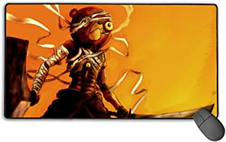 Professional Computer Mouse Pad with Rubber Base, Large Waterproof Mouse Mats, Afro Samurai Teddy Bear Cyborgs Popular Anime Key Roles Kawaii Gaming Mousepad for Teens Desktop