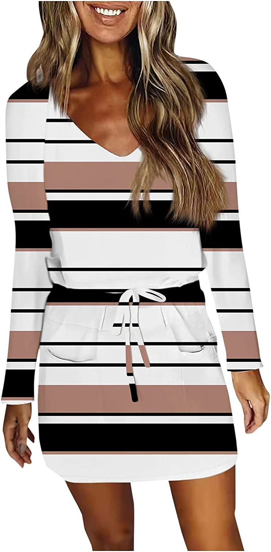 PLENTOP Women Sleeveless Tank Casual Summer Bodycon T Shirt Dress Solid Tie Waist Ruched Stretch Soft Mini Short Dresses