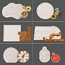 19mm Silicone Steampunk Small Gear Clockwork Clock Resin Mold Costume Cosplay Victorian Historical Recreation Clay Wax Art Craft DIY