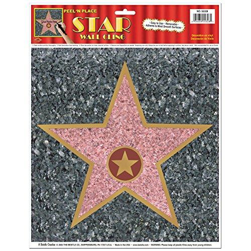 "Beistle 55328 ""Star Peel 'N Tischplatte, 12 x 15-Zoll"