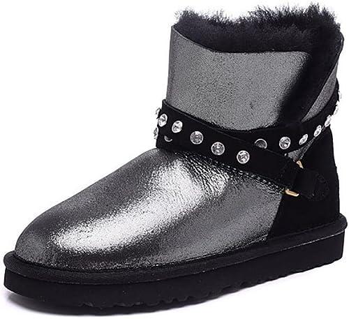 Des femmes chaudes hiver diamant diamant Mini bottes(Le plus petit un yard) , 1 , 36  prix les plus bas