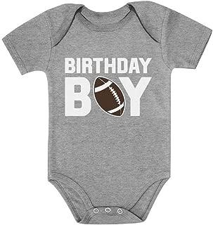 Tstars Gift for The Birthday Boy Football Baby Boy Birthday Baby Bodysuit