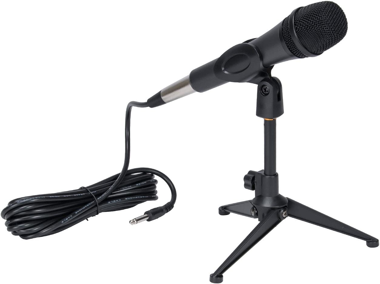 Universal Desktop Microphone Stand Heavy Iron Base Adjustable MIC Tabletop Stand with Microphone Clip such as Sm57 Sm58 Sm86 Sm87