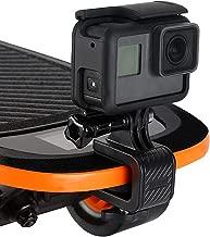 Camera Bike Surfboard Skateboard Mount, iKNOWTECH Lightweight Aluminium Alloy Skateboard Mount Holder for Gopro Hero 6 5 4 Multifuctional Stand Clip for Go Pro Xiaomi YI 4K Sjcam Camera Accessories