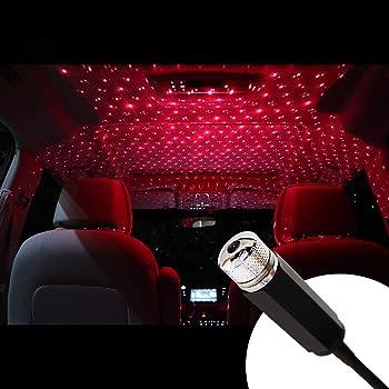 X AUTOHAUX 2pz Interno Flessibile LED USB Atmosfera Luminosa Luce Ambiente per Auto Rosso