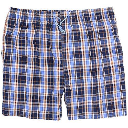 eleMar Herren Badehose Schwimmhose Plus Size Übergrößen in blau-weiß-orange-kariert in 6XL 7XL 8XL 9XL 10XL, Größe:8XL