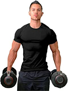 Men's Cotton Slim Fit Athletic Bodybuilding T-Shirts Muscle Short Sleeve Tee