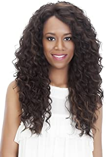 Vivica A Fox Hair Collection Julia Deep Swiss Lace Front Wig, New Futura Fiber in Color, 99J, 6.8 Ounce