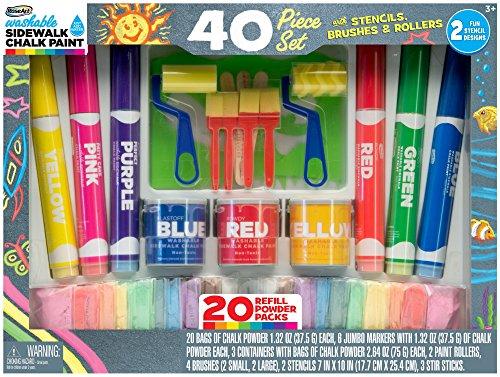 RoseArt Sidewalk Chalk Pencil Deluxe Set (40 Piece)