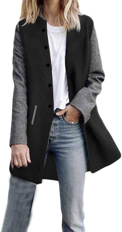 TOTAMALA Sale Special Price Women's Single Breasted Pea Atlanta Mall Cardigan Mid-Long Jack Coat
