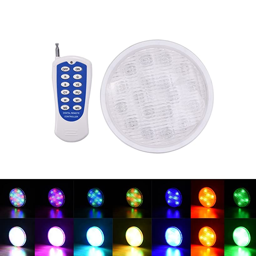 Per Remote Control LED Underwater Lights IP68 Waterproof RGB Colorful Light For Swimming Pool Fountain Aquarium Event Party Wedding-18w