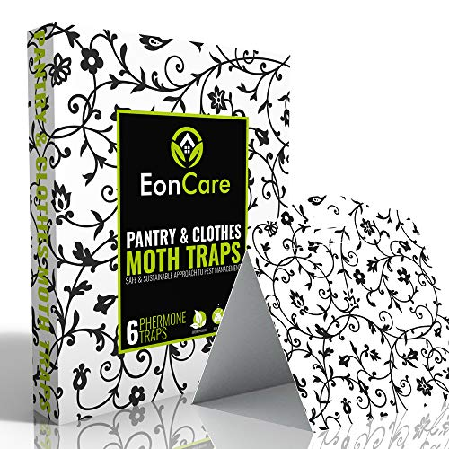 EonCare Pantry amp Clothes Moth Traps | Dual Action Formula Captures More Types of Moths | Safe amp Natural | 6 Pack | New amp Improved 2020