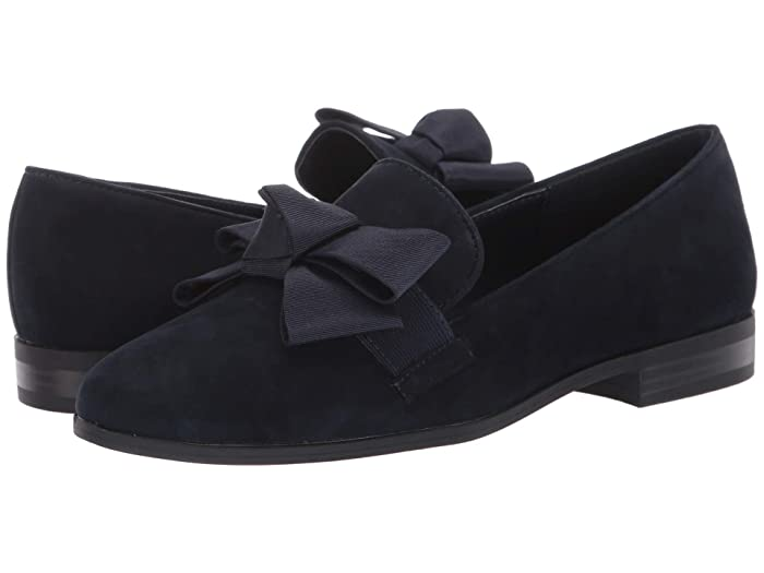Retro Vintage Flats and Low Heel Shoes Bandolino Lomb 2 Dark Blue Womens Shoes $52.84 AT vintagedancer.com