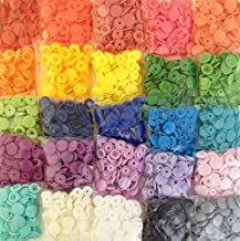 """500 KAMsnaps 25-Color Lead-Tested KAM Snaps Plastic Resin Industrial Snaps Size 20 (1/2"""") Replacement Zipper Repair No-Sew Buttons (500 Sets)"""