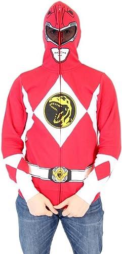 increíbles descuentos Power Rangers estoy Ranger rojo Adulto Disfraz de de de cremallera completa sudadera con capucha  buen precio