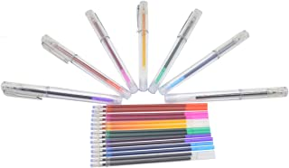 ibotti Embroidery Transfer Pen, Washable Fabric Marker, Water Erasable Marking Pens,7 Pack with 14 Refills